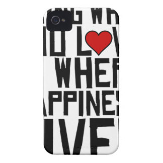 Doing What You Love Is Where Happiness Lives iPhone 4 Covers