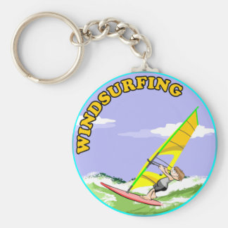 Doing windsurf in the waves key ring