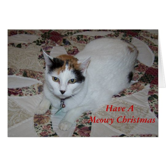 Doll2, Have A Meowy Christmas Card