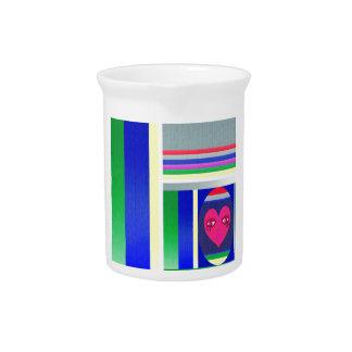 Doll babushka colorful apstract pitcher