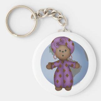 Doll Basic Round Button Key Ring
