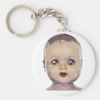 Doll Basic Round Button Key Ring