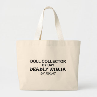 Doll Collector Deadly Ninja by Night Tote Bags