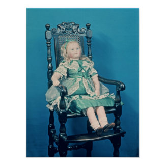 Doll, probably made by Charles Marsh, 1865 Poster