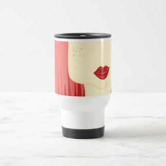 doll red hair travel mug