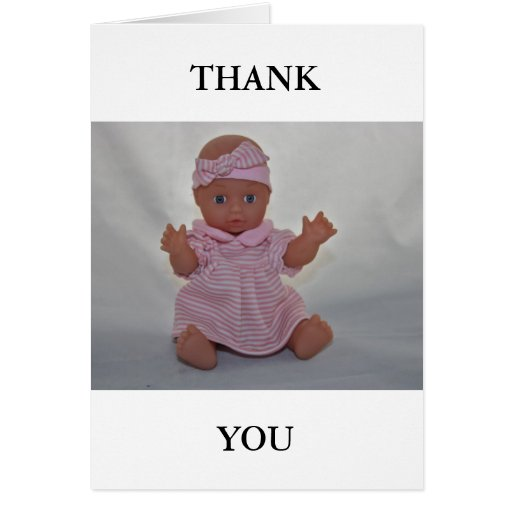 Doll Thank You Card