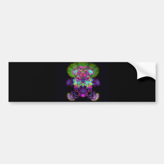 doll-with-green-hair abstract random fractal digit bumper sticker