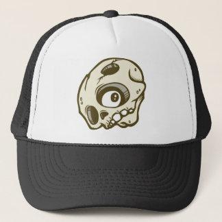 DOLLA brown skullie hat