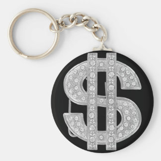dollar basic round button key ring