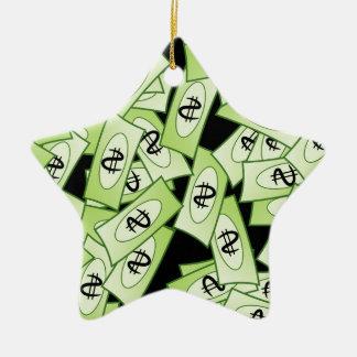 Dollar Ceramic Ornament