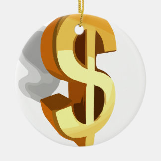 Dollar Image Ceramic Ornament
