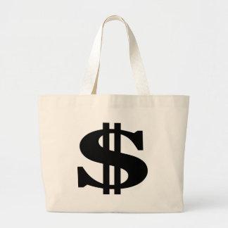 Dollar Large Tote Bag