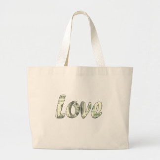 Dollar love large tote bag