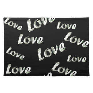Dollar love patter placemat