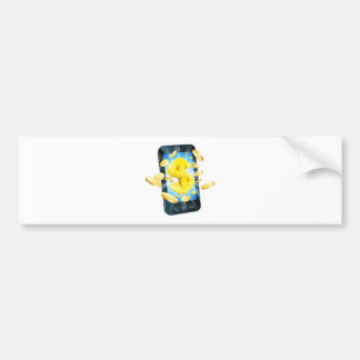 Dollar money phone concept bumper stickers