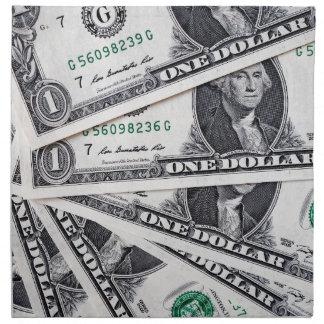 Dollar notes 1 Dollar Napkin