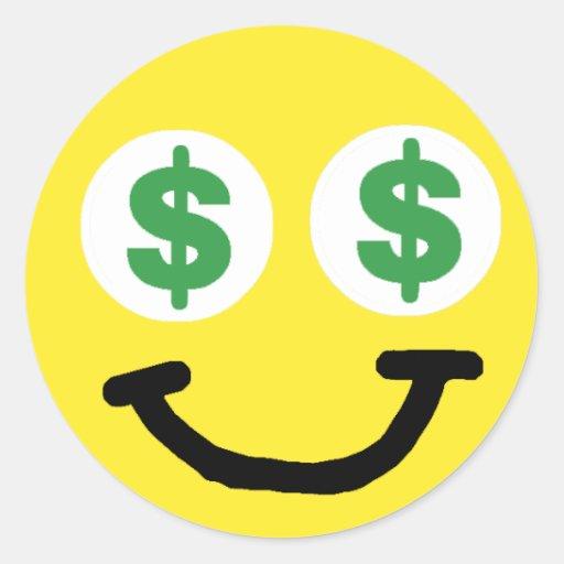 dollar sign eyes sticker zazzle