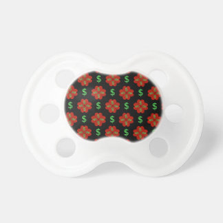Dollar Sign Graphic Pattern Baby Pacifiers