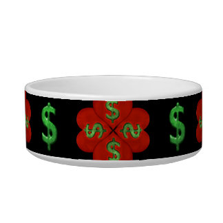 Dollar Sign Graphic Pattern Bowl