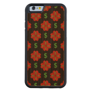 Dollar Sign Graphic Pattern Carved Cherry iPhone 6 Bumper Case