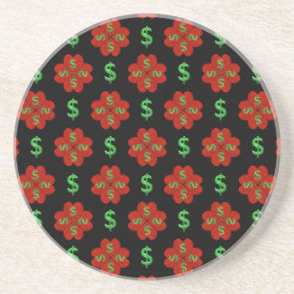 Dollar Sign Graphic Pattern Coaster