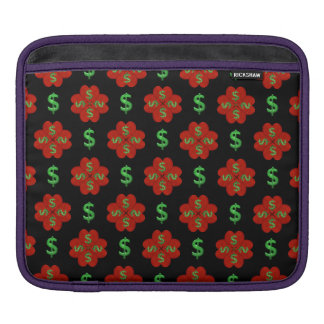 Dollar Sign Graphic Pattern iPad Sleeve