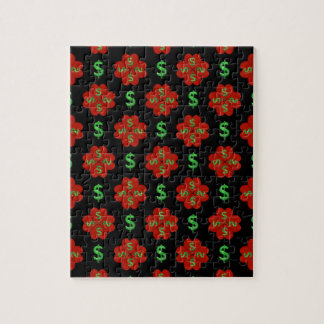 Dollar Sign Graphic Pattern Jigsaw Puzzle