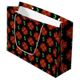 Dollar Sign Graphic Pattern Large Gift Bag