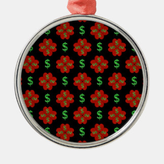Dollar Sign Graphic Pattern Metal Ornament
