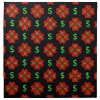 Dollar Sign Graphic Pattern Napkin