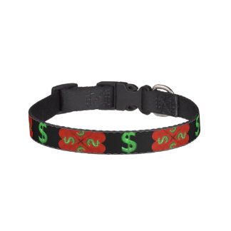 Dollar Sign Graphic Pattern Pet Collar