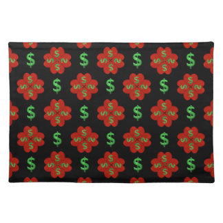Dollar Sign Graphic Pattern Place Mats