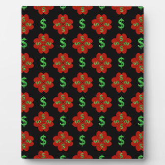 Dollar Sign Graphic Pattern Plaque