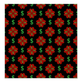 Dollar Sign Graphic Pattern Poster