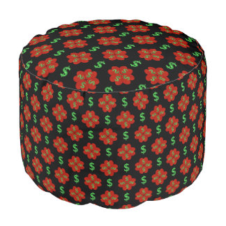 Dollar Sign Graphic Pattern Pouf