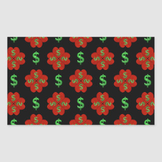 Dollar Sign Graphic Pattern Rectangular Sticker