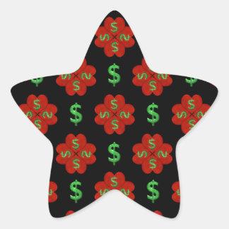 Dollar Sign Graphic Pattern Star Sticker