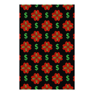 Dollar Sign Graphic Pattern Stationery