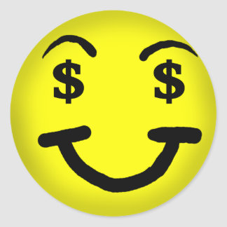 Dollar Sign Smiley Sticker