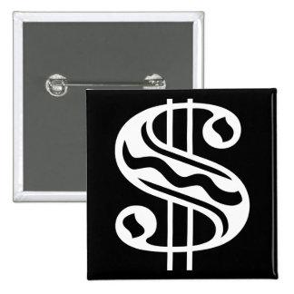 Dollar Sign - White Button