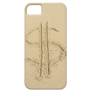 Dollar sign written in sand iPhone 5 cover