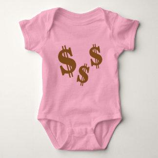 Dollar signs baby bodysuit