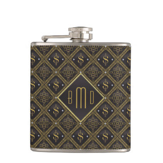 Dollar Signs & Diamonds Hip Flask