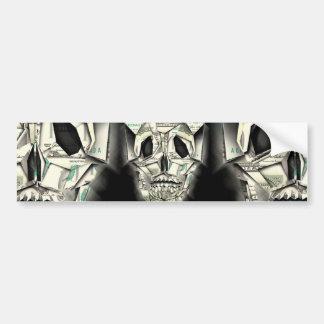 Dollar Skull design Bumper Sticker