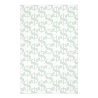 Dollar symbol pattern stationery