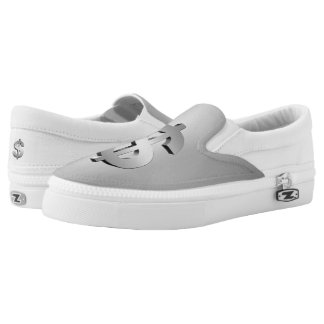Dollar symbol slip on shoes