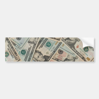 Dollars Background Bumper Stickers