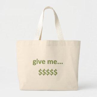 Dollars Retro Style 4 Large Tote Bag