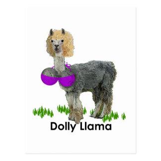 Dolly Llama Postcard
