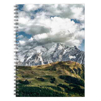 Dolomites alps, Italy Spiral Notebook